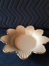 Lenox Meridan Ivory Candy Dish With 24K Gold Trim