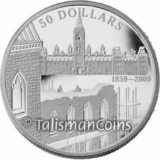 Canada 2009 Parliament Buildings Construction 150th Anniversary $50 5 Oz Silver