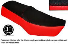 Rojo Y Negro Automotriz Vinilo personalizado para SUZUKI GN 250 87-96 Dual Cubierta de asiento solamente