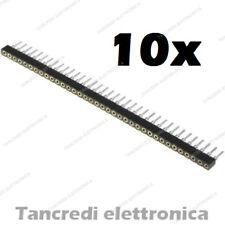 10 Connettori strip line 40 pin poli Femmina separabile 2.54mm circuito stampato