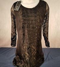 Tt collection womans XS shift dress  dinner wear black