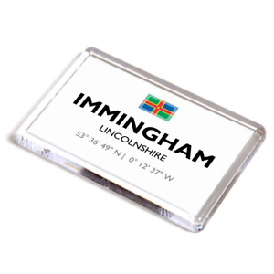 FRIDGE MAGNET - Immingham, Lincolnshire - Lat/Long TA1814
