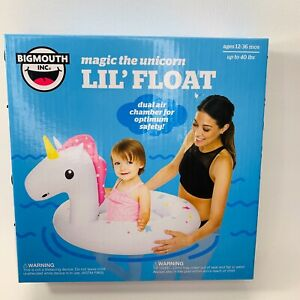 Unicorn Pool Float Lil' Water Float 12-36 months up to 40 Lbs Dual Chamber NEW