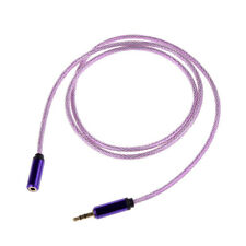 Purple 3.5mm Male to Female Stereo Audio Headphone Extention Cable Cord