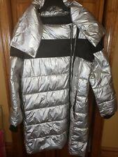Ecoalf by Felder Felder - Silver Puffer Jacket Coat SZ Large Men's Long
