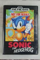 Sonic The Hedgehog Genuine Sega Genesis Video Game Cartridge with Case No Manual