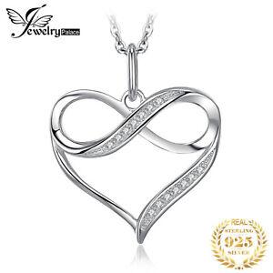 Damen Halskette Herz echt 925er Silber Anhänger Schmuck Frauen Zirkon Geschenk