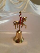 """Vintage Brass Bell With Circus Pony on Top 6"""" Tall"""