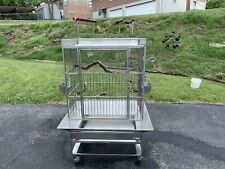 Animal Enviorments Stainless Steel Parrot Bird Cage Pickup Only No Shipping