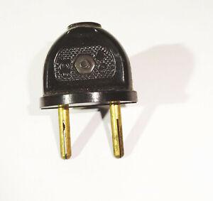 Vecchio Spina Bachelite Dispositivo Spina Presa Elettrica Vintage (E104
