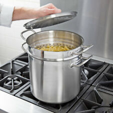 Vigor 12 Qt. Stainless Steel Aluminum-Clad Pasta Cooker Combination Stock Pot