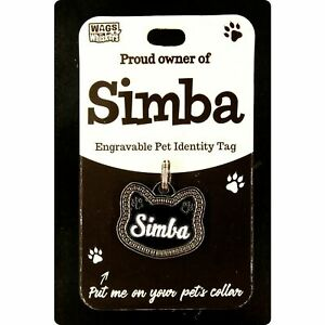 DESIRABLE GIFTS SIMBA PERSONALISED WAGS & WHISKERS CAT PET TAG NAMES CAN NOT BE