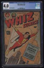 New ListingWhiz Comics #121 Cgc 4.0 Ow Pgs Captain Marvel Shazam 1950 Fawcett Publications
