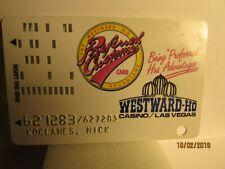 Westward -Ho Casino- Las Vegas,Nv- players slot card- obsolete card and casino