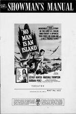 NO MAN IS AN ISLAND pressbook, Jeffrey Hunter, Marshall Thompson, Barbara Perez