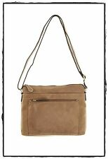 Colorado Leather Front Pocket Blazer Taupe Handbag Shoulder Bag ON SALE 3158532