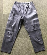 Portobello Moda Vera Pelle mans genuine Italian leather pants size 29 in EC