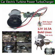 12V Car Electric Turbine Power Turbo Charger Tan Boost Air Intake Fan + Control