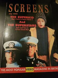 SCREENS MAGAZINE MACAULAY CULKIN JULY 1993 VHS RENTAL VIDEO MAGAZINE