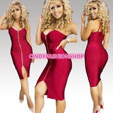 New Women Summer Sexy V-Neck Sleeveless Bodycon Club Wear Party Bandage Dress