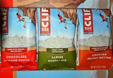 60 Clif Energy Bar Alpine Muesli Mélange & Croquant Beurre D'Arachides & Amande