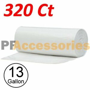 320 Strong 13 Gallon Commercial Kitchen Trash Bag 13 Gal Garbage Bag Yard Clear