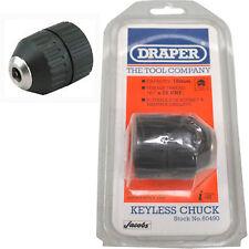 """DRAPER 10mm Handtite Keyless Chuck 1/2"""" x 20 UNF 1.5mm - 10mm  Brand New"""