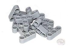 LEGO Technic - 10 x 'T' Studless Beams - Lt Blu Gry - Liftarms - New - (NXT,EV3)