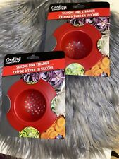 New listing 2 pcs new silicone sink strainer Red