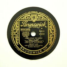 "PEGGY LEE ""How Bitter, My Sweet / I Belong To You"" (E+) BRUNSWICK 05435 [78 RPM]"
