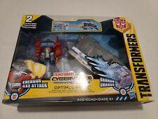 Transformers Cyberverse Optimus Prime Battle Base Trailer - Energon Axe Attack