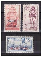 WALLIS ET FUTUNA .  N° 87/89. 3 VALEURS   NEUVES  **. SUPERBE