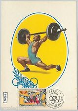 51292 - Czechoslovakia  MAXIMUM CARD - 1964 OLYMPIC GAMES in TOKYO Weightlifting