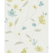 Holden K2 avonlea motivo fiori fiore metallico texture Carta da Parati in Vinile Blu