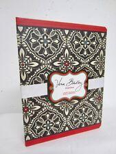 VERA BRADLEY Black & Red BARCELONA Pattern Agenda Calendar Planner 3 Ring Binder