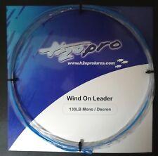 Wind-on-leader H2o Pro Terminale Traina Senza Nodi Fluoro ~ Dacron 130lb