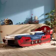 Kinderbett CRAZY SHARK Piratenbett Seeräuber Schiff Boot Bett rot braun 90x200