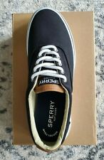 Sperry Top Sider Halyard CVO Saturate Canvas Boat Shoes Black NIB Laceless/Lace