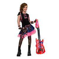4X Inflatable Guitar Blow Up Party Toy Kids Rockir Dress Up Birthday Disco