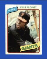 1980 Topps Willie McCovey Baseball Card #335 - San Francisco Giants HOF