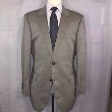 Jos. A. Bank 40L Beige Herringbone 2 Button Silk Camelhair Blazer