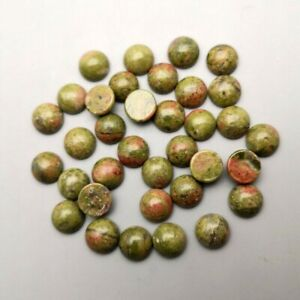 Wholesale 50pcs/lot Natural Unakite Stones Round CAB CABOCHON Stone Beads 8mm