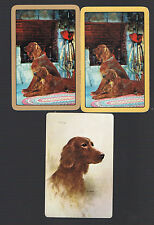 "Playing Swap Cards  3    VINT  ""SPANIEL   DOGS  "" BY THE FIRE & FRIEND W368"