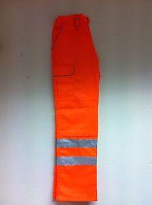 Hi Viz Pulsarail PR336 Rail Orange Combat Trousers Teflon Coated