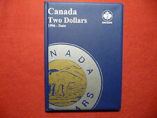 UNI-SAFE  CANADIAN  TWO  DOLLARS  FOLDER  ALBUM  BLUE  (1996 TO DATE  )  (#1)