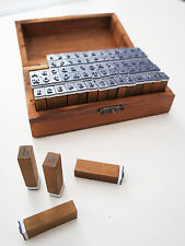 UPPER & Lower Alphabet & Number Wooden Rubber Stamp Kit - Cards Letter Stamps