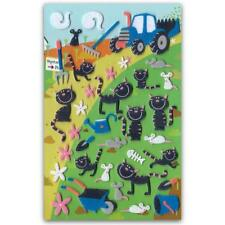 ✰ CUTE FARM CAT FELT STICKERS Sheet Animal Scrapbook Country Mouse Fuzzy Sticker