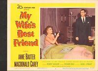 1952 MOVIE LOBBY CARD #3-1178 - MY WIFES BEST FRIEND - ANN BAXTER