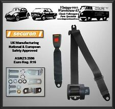 Rock And Roll Cama De 3 Puntos automática de vuelta & Diagonal del cinturón de seguridad Kit Black T2 T3 T4