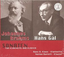 Brahms • Gál – Sonatas for Clarinet and Piano / Hans D. Klaus • Nerine Barrett